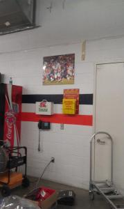 picture in the backroom... I think it's of the Thanksgiving game against the Giants.